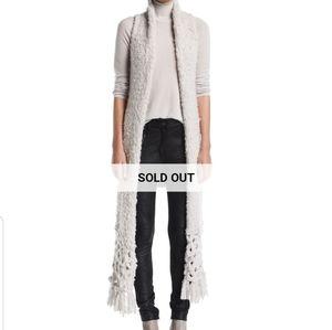 Gentry Portofino Fringed Knit Cashmere Vest